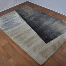 Modern Shapes Light Beige & Dark Grey Rug