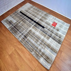 Modern Lines Gold and Grey Area Rug