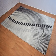 Modern Shapes Grey Area Rug