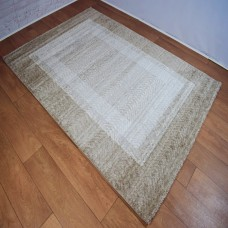 Chevron Lines Boarder Neutral Beige and Grey Area Rug