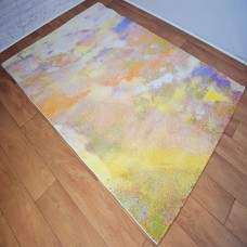Abstract Blotted Multi-Coloured Area Rug