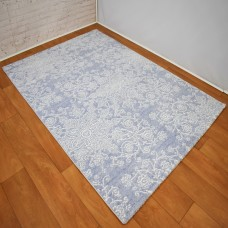 Modern Traditional Floral Blue & White Area Rug