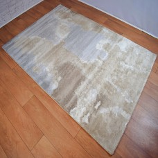 Abstract Watermark Light Beige and Grey Area Rug