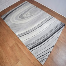 Simple Swirl Light Grey and Grey Area Rug