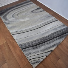 Simple Swirl Grey and Light Grey Area Rug
