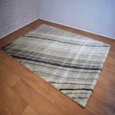 Abstract Line Grey & Beige Area Rug