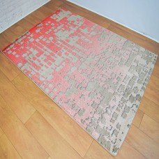 Graphic Modern Red and Gold Area Rug