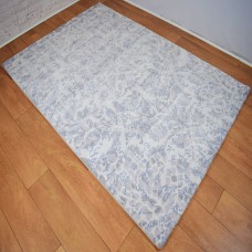 Modern Traditional Large Floral/Thistle Cloud Grey and Blue Area Rug