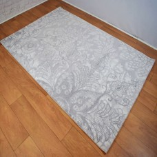 Modern Traditional Large Floral Grey and White Area Rug