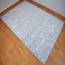 Modern Traditional Large Floral  Blue Grey and Beige Area Rug