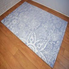 Modern Traditional Large Floral White, Beige and Blue Area Rug