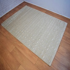 Traditional Neutral Beige and White Area Rug