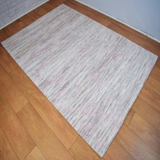 Two-Tone Gradient Cream and Pink Area Rug