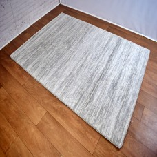 Two-Tone Gradient Grey/Cream Area Rug