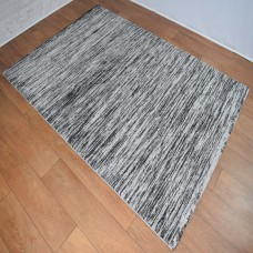Two-Tone Gradient Grey and Black Area Rug