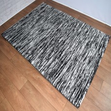 Two-Tone Gradient Black and Cream Area Rug