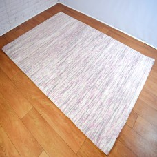 Two-Tone Gradient Cream, Grey and Pink Area Rug