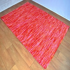 Two-Tone Gradient Red and Pink Area Rug