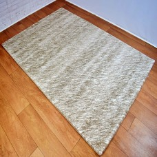 Two-Tone Neutral Gold and Grey Area Rug