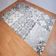 Modern Medallion Grey and Cream Rug