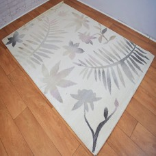 Floral Graduated Cream and Rose Pink Area Rug