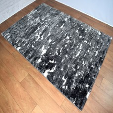 Modern Gradient Black and Grey Area Rug