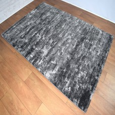 Modern Gradient Black and Dark Grey Area Rug