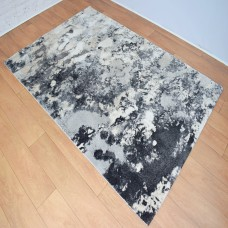 Abstract Blotted Marks Grey and Dark Grey Area Rug