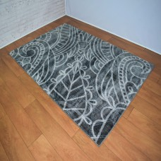 Modern Madalas Dark and Light Grey Area Rug
