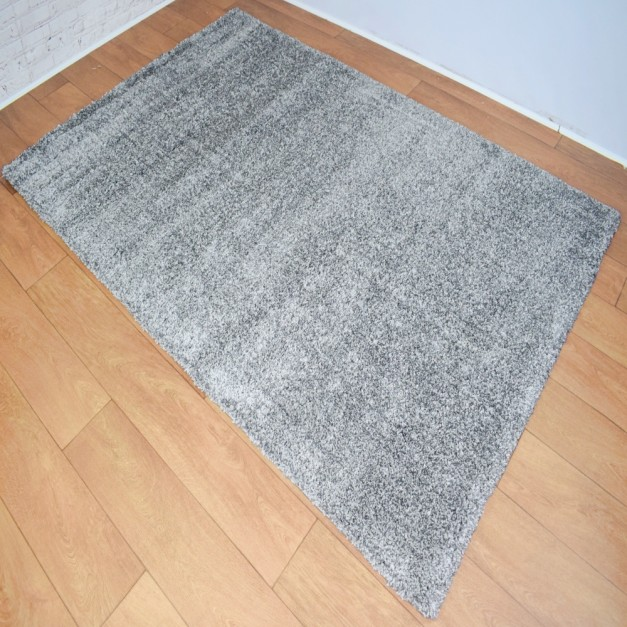 Soft Shaggy Grey Area Rug