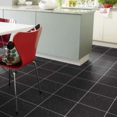 Karndean Knight Tile Midnight Black Stone Tile Effect LVT