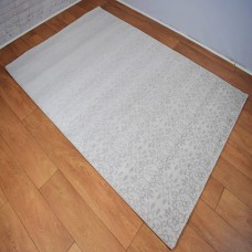 Traditional Patterned Gradient Silver and Beige Area Rug