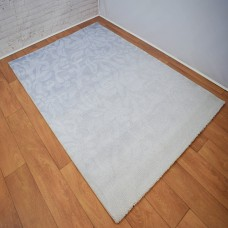 Traditional Patterned Gradient Beige and Blue Area Rug