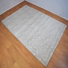 Traditional Medallion Floral Silver Grey and Beige Area Rug