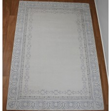 Traditional Border Cloud & Silver Sconce Rug