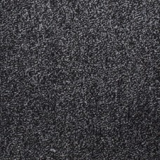 Amber Soft Touch Black Grey Silver Twist Pile Carpet Runner - 1m Width