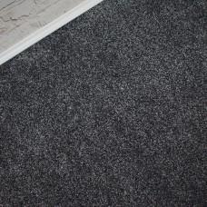 Opulent Black Silver Twist Pile Carpet