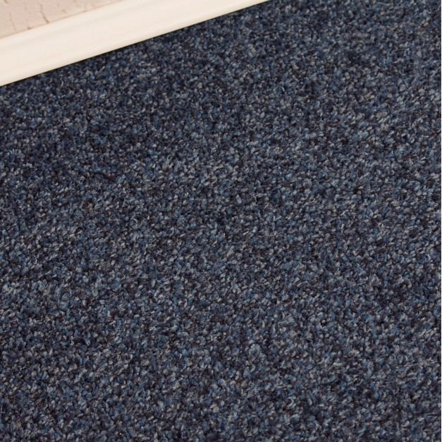 Conquest Blue Twist Pile Carpet Remnant 3m x 4m - FT1746