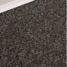 Conquest Black Silver Twist Pile Felt Back Carpet Remnant 2m x 4m - JT2090