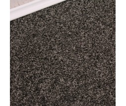 Conquest Black Silver Twist Pile Carpet Remnant 3.1m x 5m - FN268