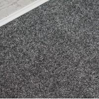 Conquest Silver Grey Twist Pile Carpet Remnant 1.6m x 5m - PT1597