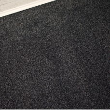 Dakota Dark Grey Black Felt Back Saxony Carpet