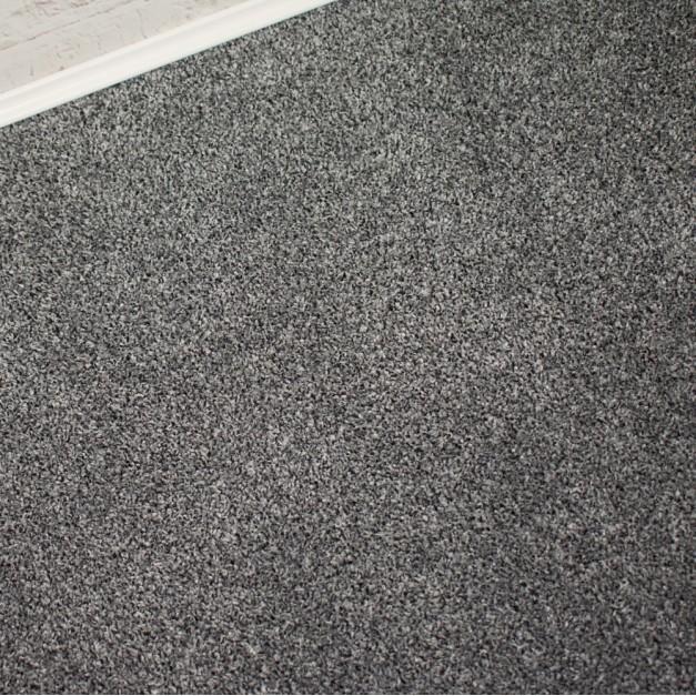 Dakota Grey Silver Felt Back Saxony Carpet