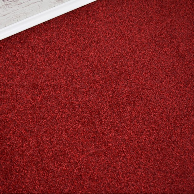 Denver Supreme Red Maroon Saxony Carpet