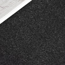 Denver Black Grey Saxony Carpet Remnant 1.8m x 4m - JN1483