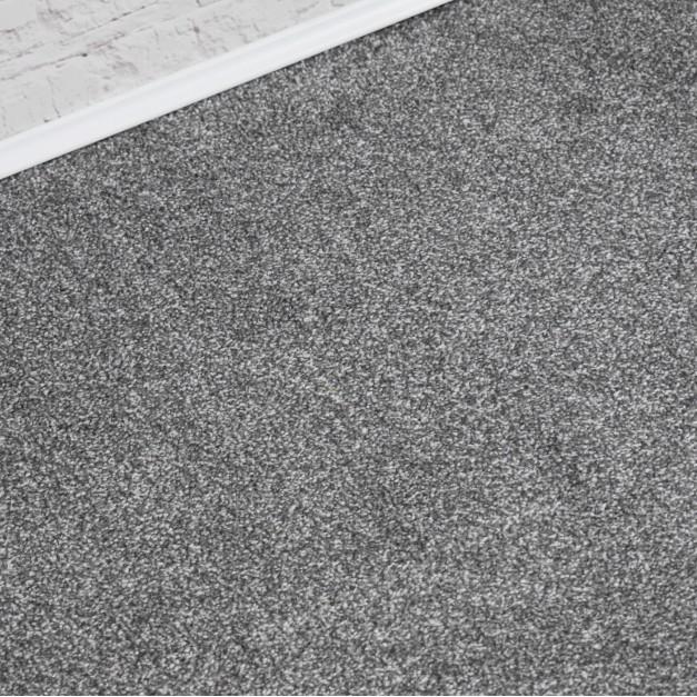 Faro Silver Grey Saxony Carpet