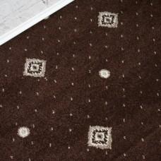 Hilton Brown/Cream Patterned Wilton Carpet
