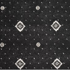 Hilton Black/Grey Patterned Wilton Carpet