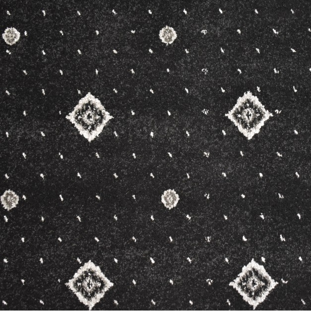 Hilton Black Grey Patterned Wilton Carpet