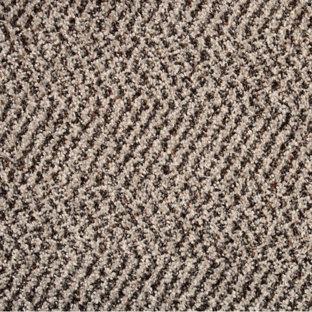 New Rodeo Beige Patterned Twist Pile Carpet